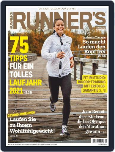Runner's World Deutschland January 1st, 2021 Digital Back Issue Cover
