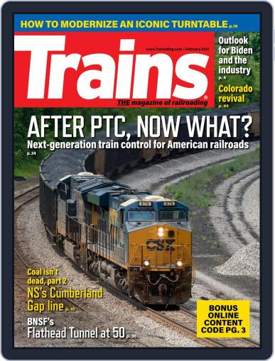Trains (Digital) February 1st, 2021 Issue Cover