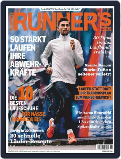 Runner's World Deutschland February 1st, 2021 Digital Back Issue Cover