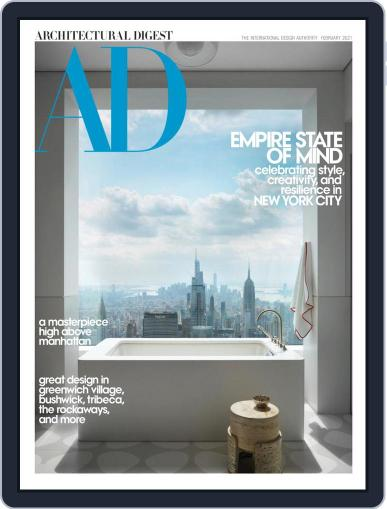 Architectural Digest February 1st, 2021 Digital Back Issue Cover
