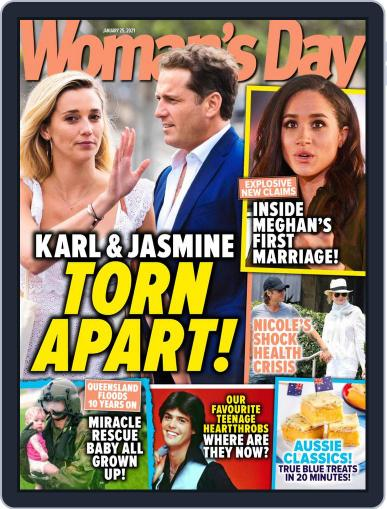 Woman's Day Australia (Digital) January 25th, 2021 Issue Cover