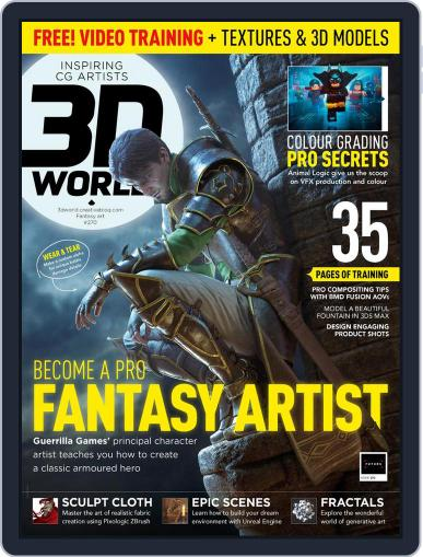 3D World March 1st, 2021 Digital Back Issue Cover