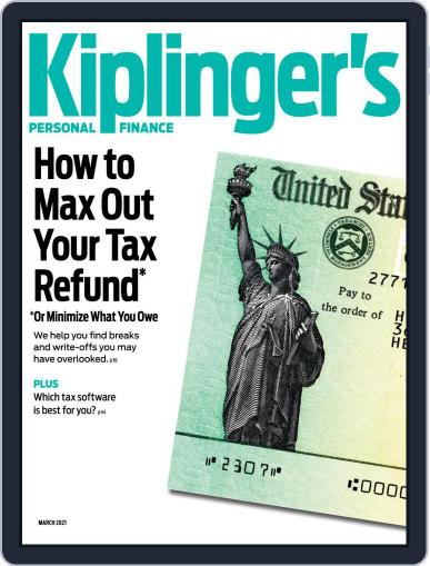Kiplinger's Personal Finance March 1st, 2021 Digital Back Issue Cover