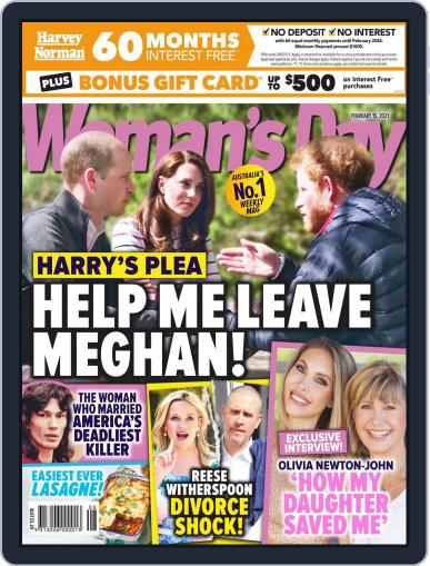 Woman's Day Australia (Digital) February 15th, 2021 Issue Cover