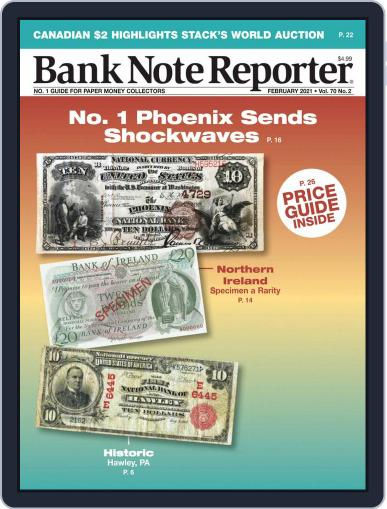 Banknote Reporter February 1st, 2021 Digital Back Issue Cover