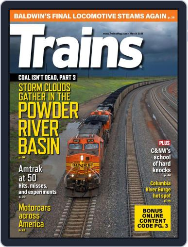 Trains (Digital) March 1st, 2021 Issue Cover