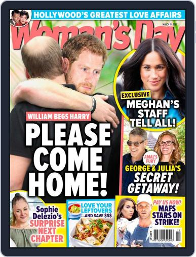 Woman's Day Australia (Digital) March 15th, 2021 Issue Cover