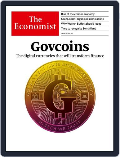 The Economist Continental Europe Edition May 8th, 2021 Digital Back Issue Cover