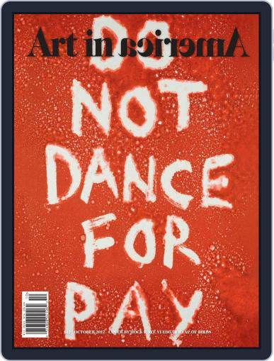 Art in America (Digital) October 1st, 2017 Issue Cover