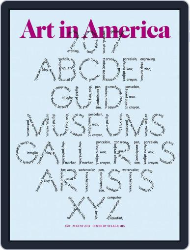 Art in America (Digital) August 1st, 2017 Issue Cover