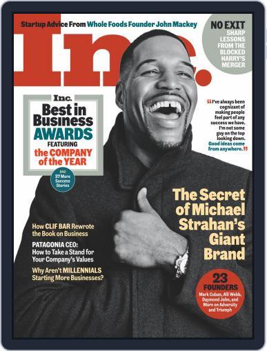 Inc Magazine Digital Magazine December 1st, 2020 Issue Cover