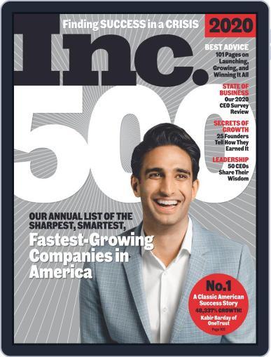 Inc Magazine Digital Magazine September 1st, 2020 Issue Cover