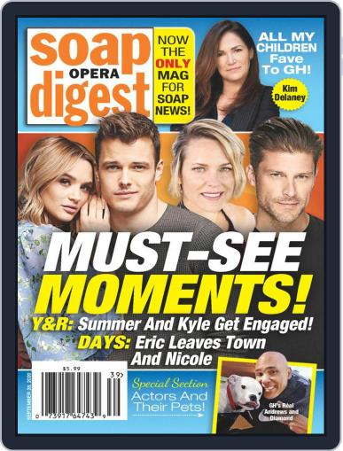 Soap Opera Digest Digital Magazine September 28th, 2020 Issue Cover