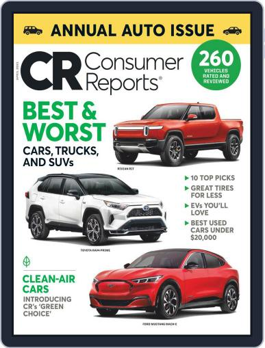 Consumer Reports Magazine (Digital) April 1st, 2021 Issue Cover