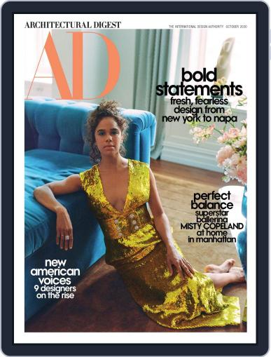 Architectural Digest Magazine (Digital) October 1st, 2020 Issue Cover