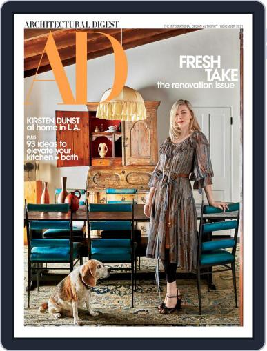 Architectural Digest Magazine (Digital) November 1st, 2021 Issue Cover