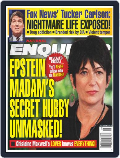 National Enquirer Magazine (Digital) September 28th, 2020 Issue Cover