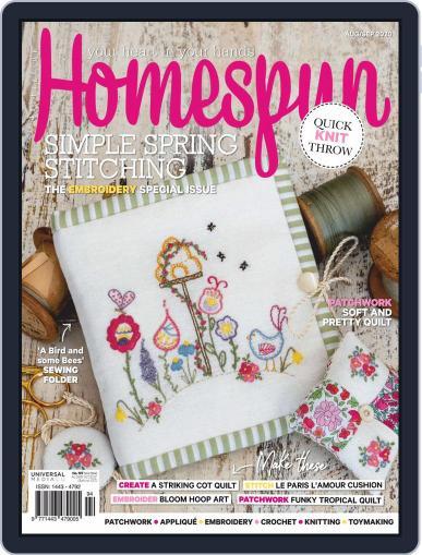 Australian Homespun Magazine (Digital) August 1st, 2020 Issue Cover