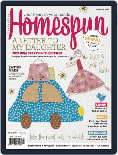 Australian Homespun Magazine (Digital) February 1st, 2021 Issue Cover