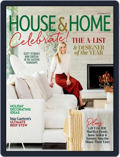 House & Home Magazine (Digital) December 1st, 2020 Issue Cover