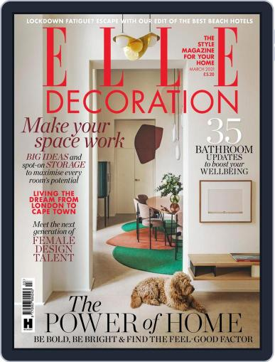 Elle Decoration UK Magazine (Digital) March 1st, 2021 Issue Cover