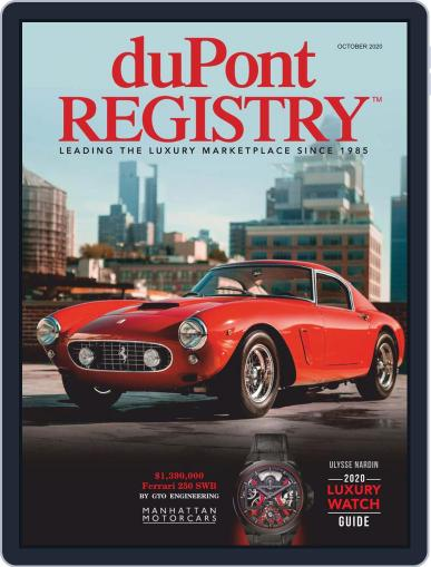 duPont REGISTRY Magazine (Digital) October 1st, 2020 Issue Cover