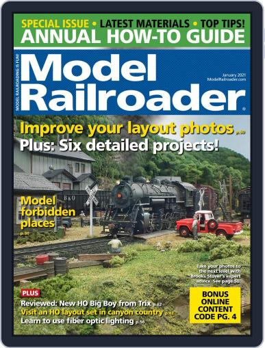 Model Railroader Magazine (Digital) January 1st, 2021 Issue Cover