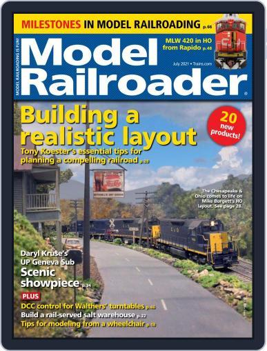 Model Railroader Magazine (Digital) July 1st, 2021 Issue Cover