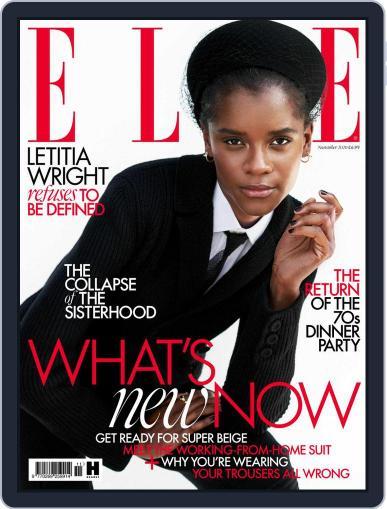 Elle UK Magazine (Digital) November 1st, 2020 Issue Cover