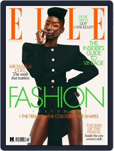 Elle UK Magazine (Digital) October 1st, 2021 Issue Cover