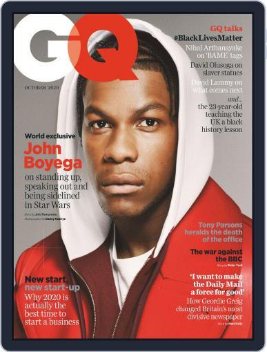 British GQ Magazine (Digital) October 1st, 2020 Issue Cover