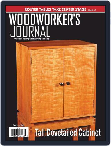 Woodworker's Journal Magazine (Digital) February 1st, 2021 Issue Cover