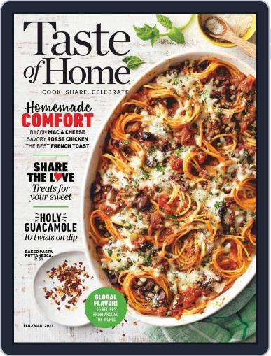 Taste of Home Magazine (Digital) February 1st, 2021 Issue Cover