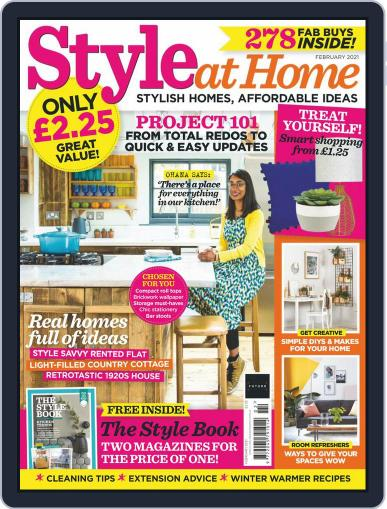Style At Home United Kingdom Magazine (Digital) February 1st, 2021 Issue Cover