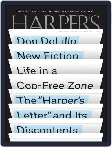 Harper's Magazine (Digital) October 1st, 2020 Issue Cover