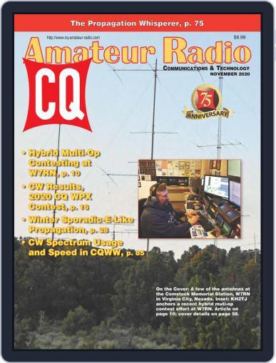 CQ Amateur Radio Magazine (Digital) November 1st, 2020 Issue Cover