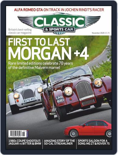 Classic & Sports Car Magazine (Digital) November 1st, 2020 Issue Cover