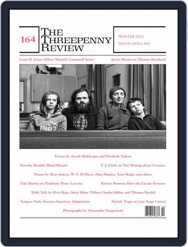 The Threepenny Review Magazine (Digital) December 1st, 2020 Issue Cover