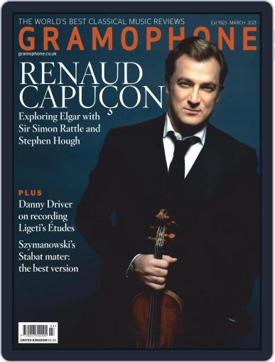 Gramophone Magazine (Digital) March 1st, 2021 Issue Cover