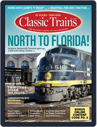 Classic Trains Magazine (Digital) August 3rd, 2020 Issue Cover