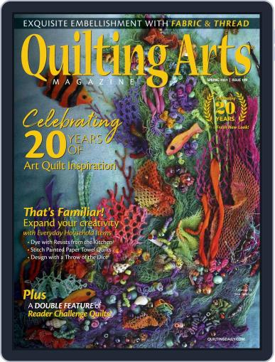Quilting Arts Magazine (Digital) February 18th, 2021 Issue Cover