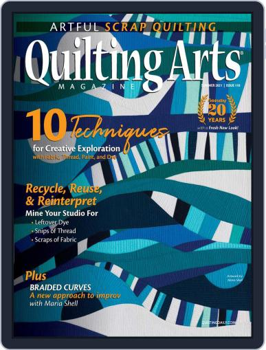 Quilting Arts Magazine (Digital) May 20th, 2021 Issue Cover