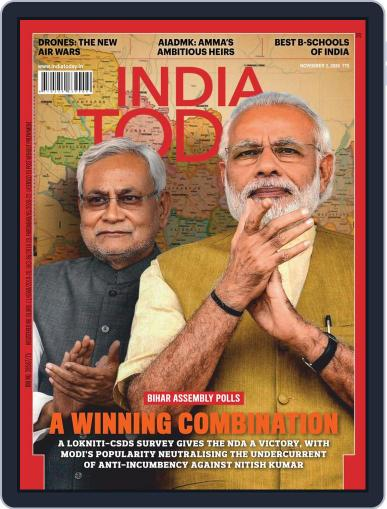 India Today Magazine (Digital) November 2nd, 2020 Issue Cover