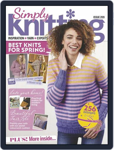 Simply Knitting Magazine (Digital) April 1st, 2021 Issue Cover
