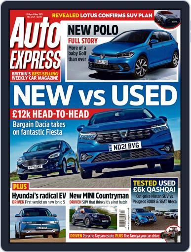 Auto Express Magazine (Digital) April 28th, 2021 Issue Cover