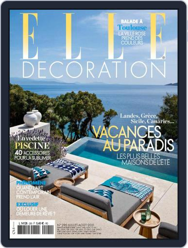 Elle Décoration France Magazine (Digital) July 1st, 2021 Issue Cover