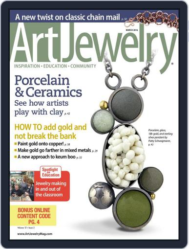 Art Jewelry March 1st, 2016 Digital Back Issue Cover