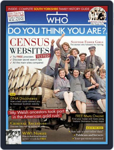 Who Do You Think You Are? Magazine (Digital) September 1st, 2020 Issue Cover