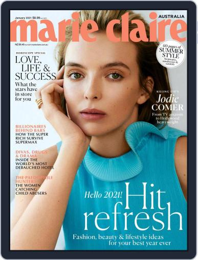 Marie Claire Australia Magazine (Digital) January 1st, 2021 Issue Cover