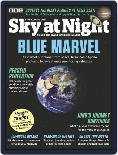 BBC Sky at Night Magazine (Digital) August 1st, 2021 Issue Cover